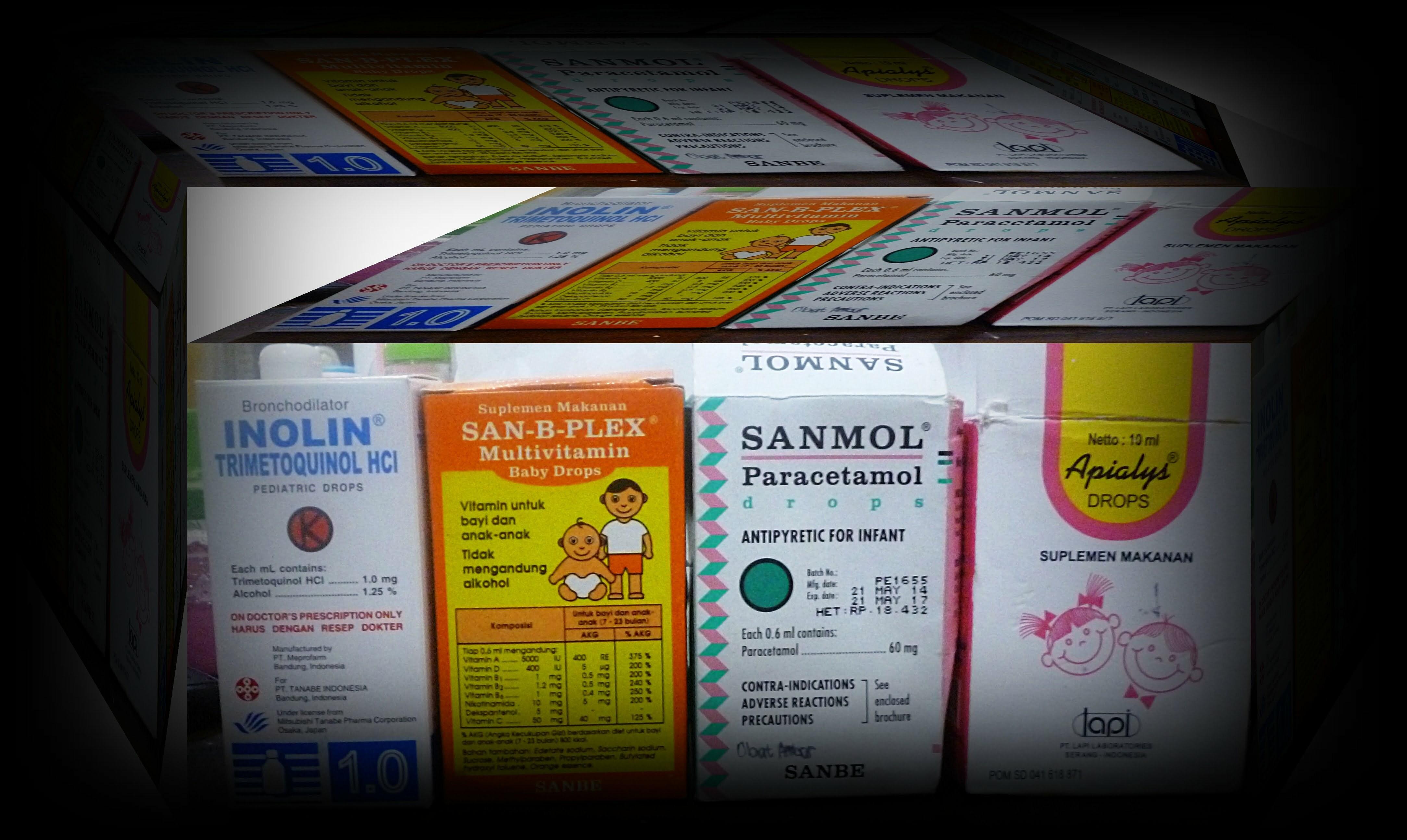 Obat, Vitamin, Paracetamol, anak, bayi