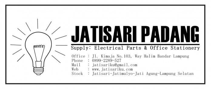Jatisari padang Supplier Alat listrik dan alat tulis