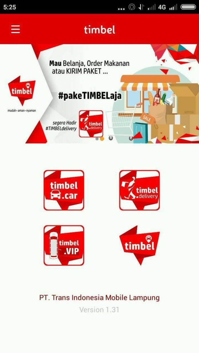 timbel taksi online di bandar lampung